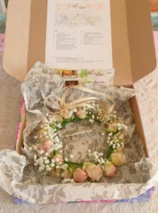 Packaged - Full flower crown for the bride-to-be - Bridal Shower