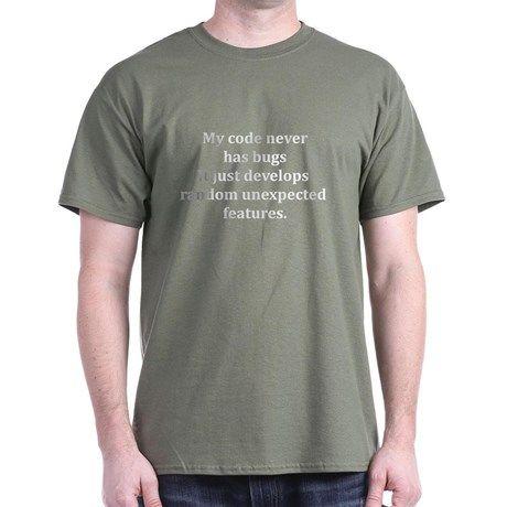 Code Bug Free Dark T-Shirt