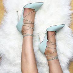 ASOS   ASOS PILOT Lace Up Pointed High Heels at ASOS