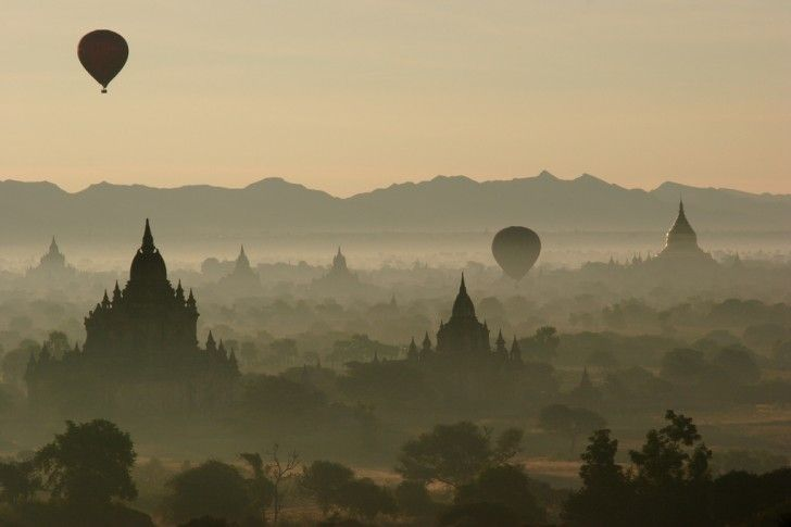 Myanmar (previously called Burma) is an ancient city that is home to over 2,000 temples and pagodas.