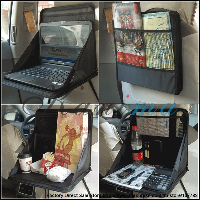 Portable Folding Car Notebook PC Laptop Cup Desk Table Mount Holder Tray Bag Back Seat Organizer Best Selling N152