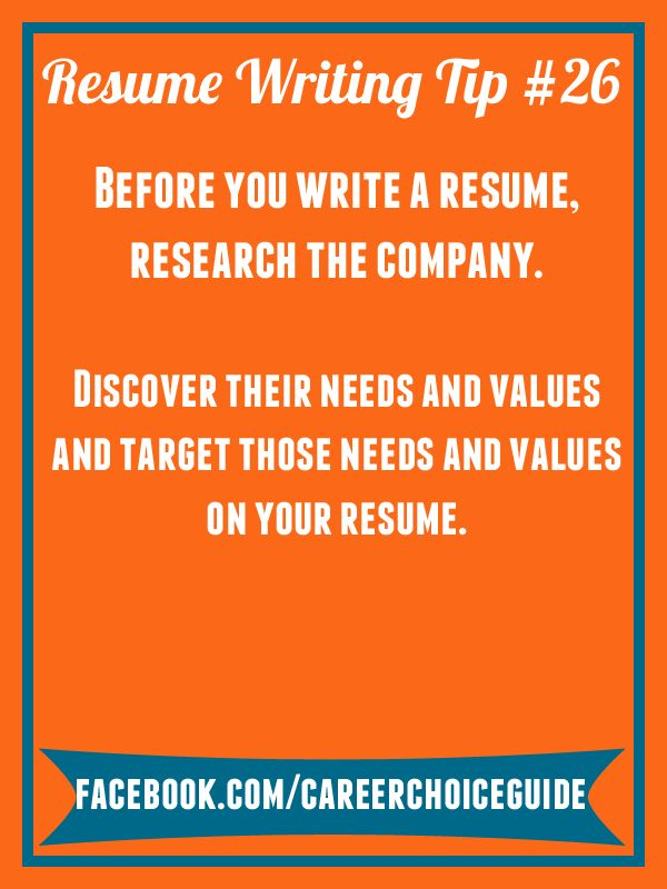 resume writing quick tip before you write a resume research the company