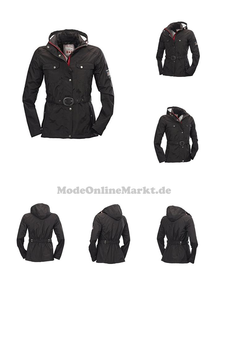 4250205441733 | #Damen #Freizeit-Jacke  #Regen-Jacken #von #Fifty #Five  #8211; #Lake #Nipigon #black #34  #8211; #modischer #Kurz-Mantel #wasserdicht, #atmungsaktiv
