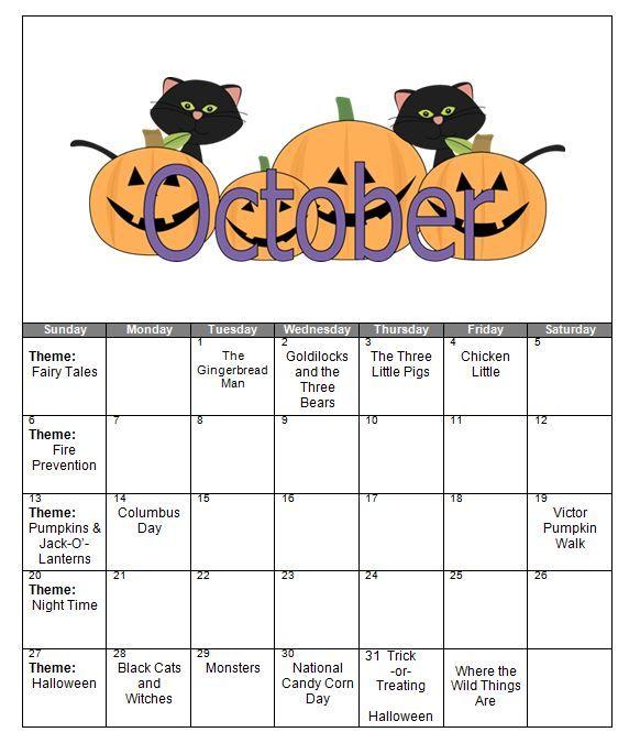 October Calendar Ideas For Preschool : Best preschool projects images on pinterest