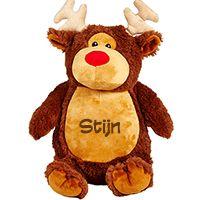 Leuk cadeau met Kerst: Cubbies knuffel 'Rudolph het Rendier' met naam! #kerst #cubbies