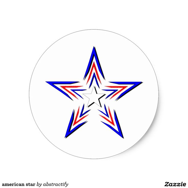 american star classic round sticker