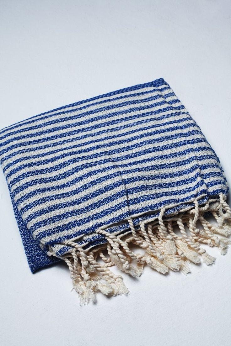 Ręcznik Stripy Niebieski
