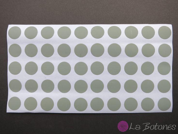 100 Klebepunkte grau von La Botones auf DaWanda.com