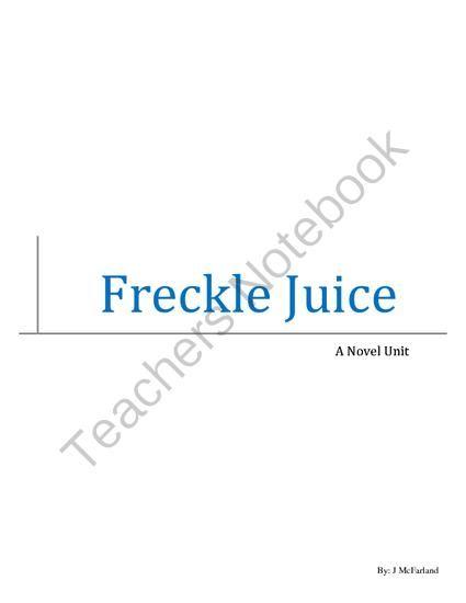 16 best Freckle Juice project images on Pinterest