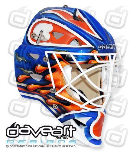 Devan Dubnyk of the Edmonton Oilers, 2013 Mask