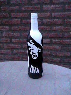 El arte del desquite: Botella pintada 4