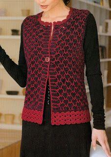 Motifli örme bayan yelek modeli Örgü Yelek Modelleri http://www.makyajtelevizyonu.com/orgu-yelek-modelleri-2.html