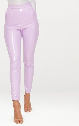 Lilac Vinyl Leggings These vinyl trousers are at the top of our new season hit list. Featuring a ...