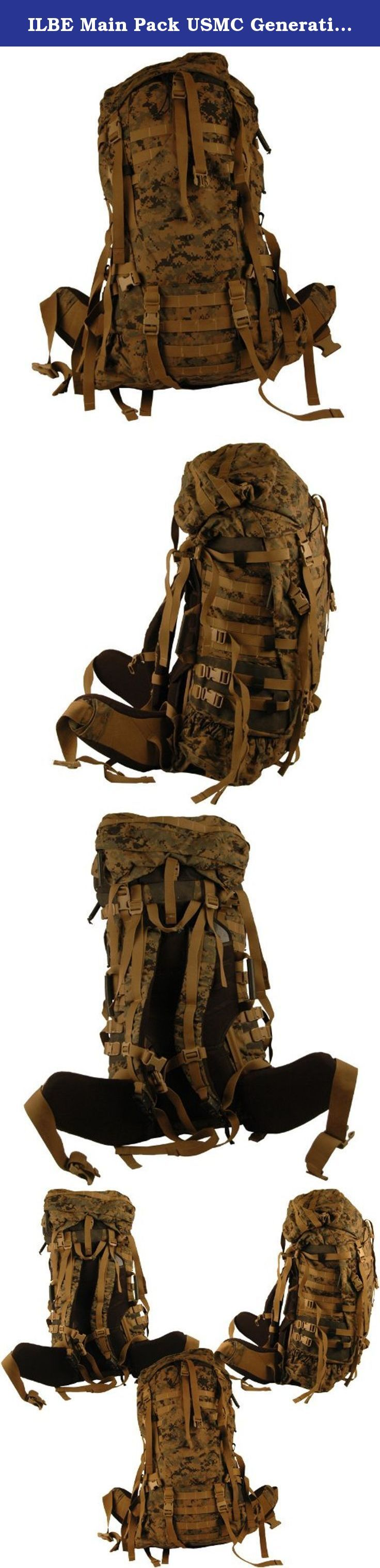 ILBE Main Pack USMC Generation 1. INCLUDES: MAIN RUCKSACK; SHOULDER STRAPS; HIP BELT; LID; AND RADIO POUCH VERY GOOD - Buckles may be scratched/scuffed from storage. May have small pin holes or minute tears that can be easily repaired with a needle and thread. Straps may have tape residue from storage. This item would be considered new if not for the minor defects. Black Star Surplus takes great pride and makes great efforts to bring our customers the best AUTHENTIC US Surplus on the…
