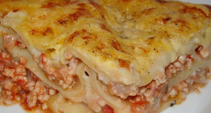 Csirkés lasagne