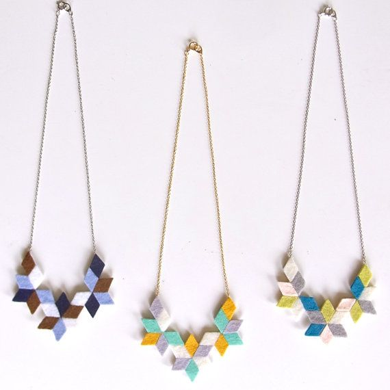felt jewelry in a graphic pattern, does it get any better!?