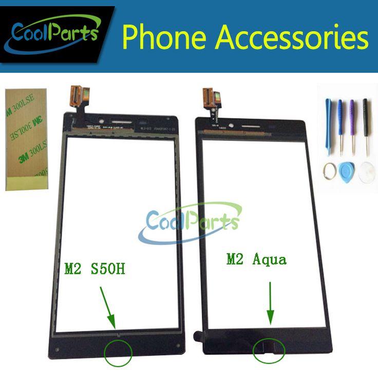 Thay thế cho sony m2 aqua d2403/m2 s50h d2303 cảm ứng Front Glass Touch Screen Digitizer Với Các Công Cụ/3 M Băng Dính 1 Cái/lốc