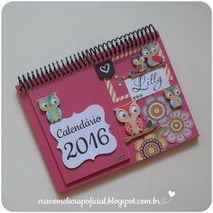 Calendário de Mesa 2016 - Corujas