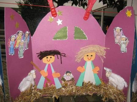 Nativity Christmas Art Project for kids