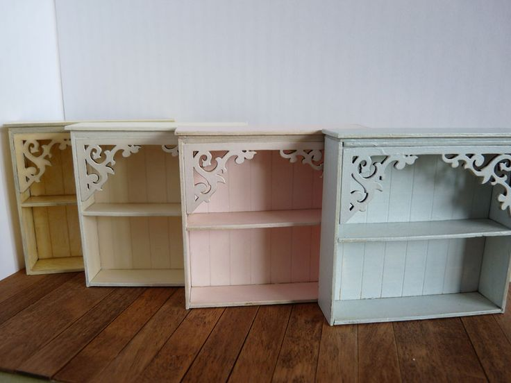 Shabby chic shelves in ice cream colours