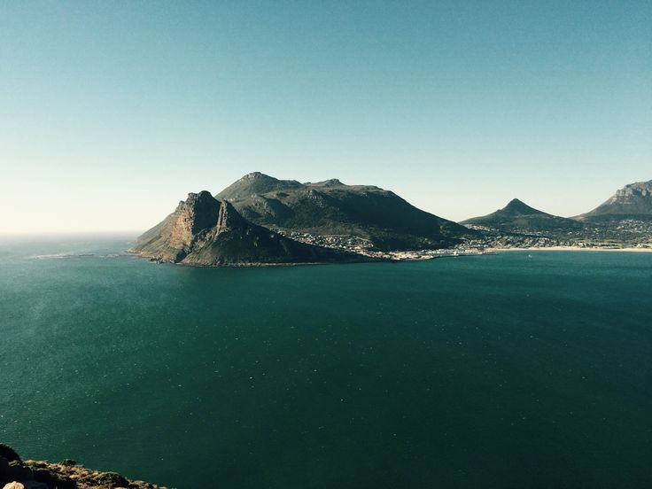 View from Chapmans Peak of Hout bay, South Africa