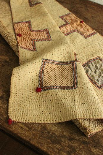 Soothing tones of Larry Quilt - Such beautiful stitching - simple but so rich!