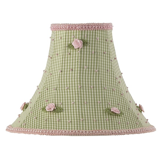 100 best lamp shades images on pinterest extra large lamp shades medium lamp shade green check with pink rosebud audiocablefo