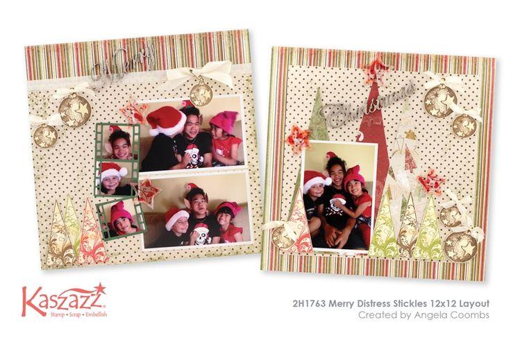 2H1763 Merry Distress Stickles 12x12 Layout