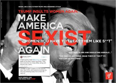 Trump: Make America Sexist Again, Trump sexist, attack on women, Trump insults, sexism,