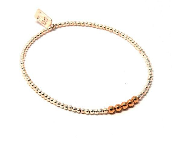 Silver and 14ct yellow gold Ella Deluxe bracelet.