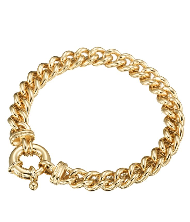 Glamour Gold Euro Clasp Bracelet - BRG0044 - $299 AUD