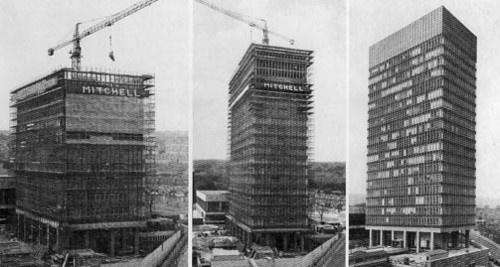 Arts Tower Construction.  University of Sheffield.