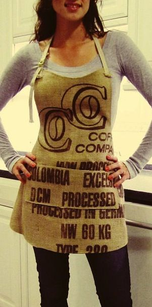 Barista Banter: Upcycled Coffee Sacks- I love this- so easy to make, ordered the coffee sacks...