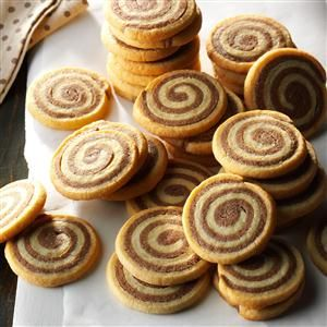 Basic Chocolate Pinwheel Cookies Recipe -This recipe evolved from several different recipes that I combined into one. I've never received so many compliments on my baking!—Denise Hufford, Midland, Michigan