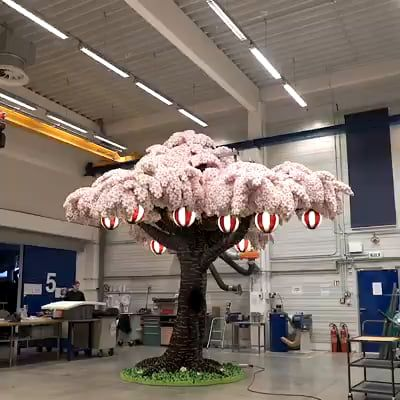 Cherry Blossom Tree Legoland Japan Sakura Art Cherry Blossom Tree Lego