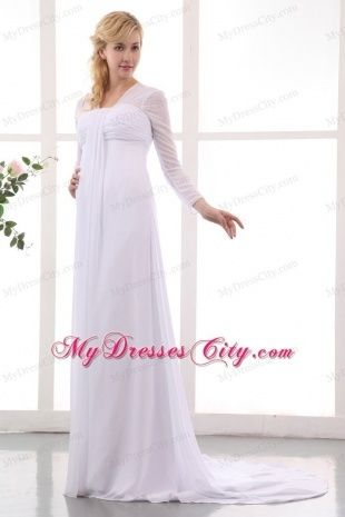 Long Sleeve Maternity Wedding Dresses