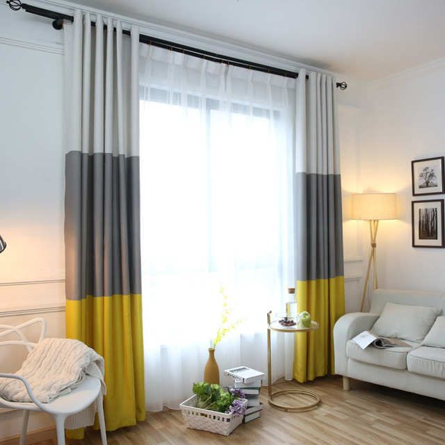 Online Shop 3 Colors Striped Blackout Curtains For The Bedroom