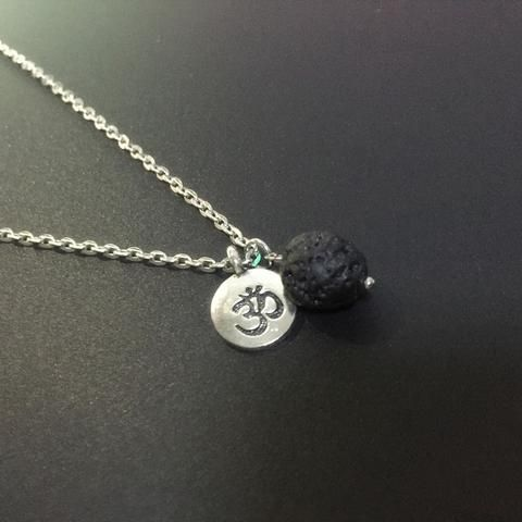 Lava Stone and Yoga Diffuser Necklace Lava stone bracelet diffuser. Add essential oil to lava stone for diffusing. Lava stone is a stone of courage and gives people stability as they go through changes in their lives.
