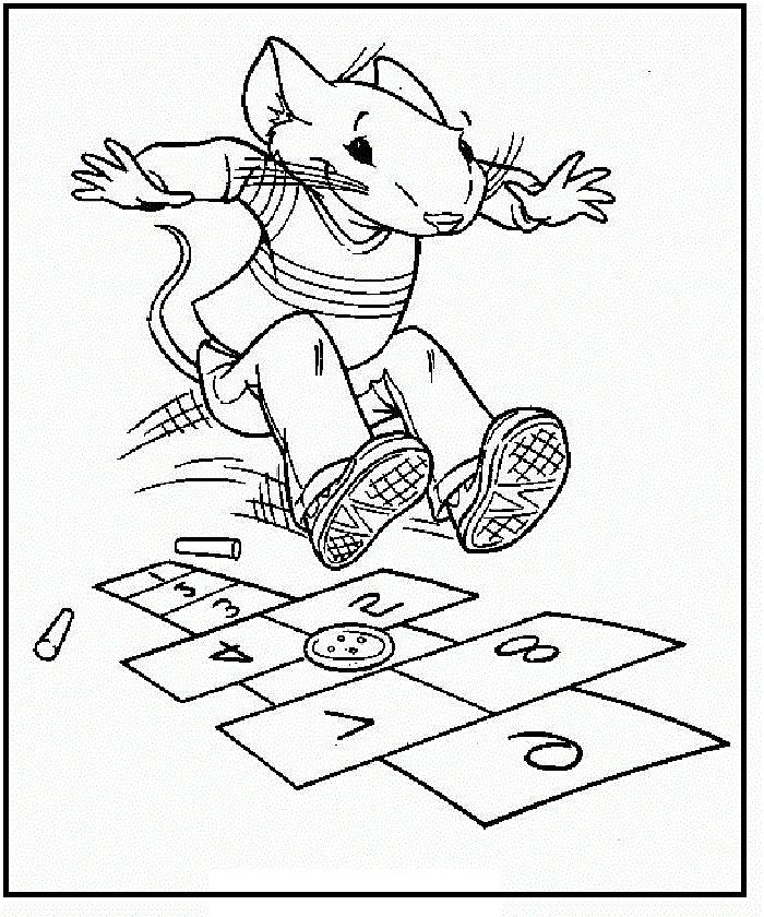 Stuart Little Play On Page Coloring Pages For Kids Printable