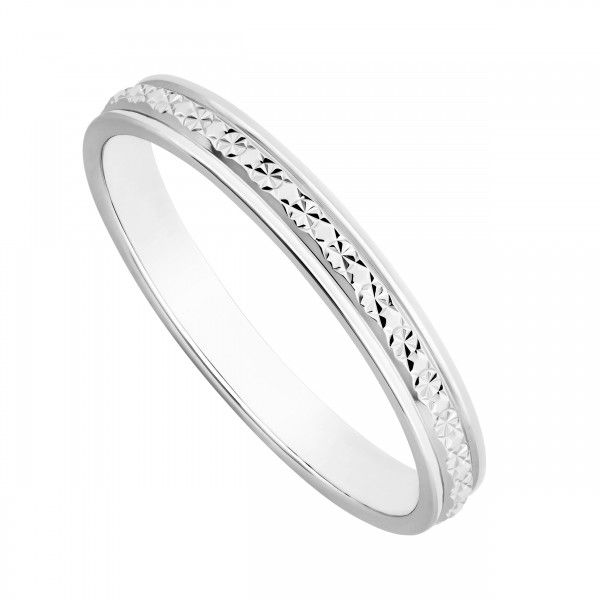 Beautiful Ladies u ct white gold one row sparkle cut wedding ring White gold wedding rings