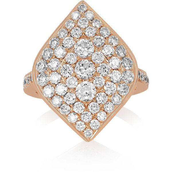 Anita Ko Marquis 18-karat rose gold diamond ring, Women's, Size: 6 (27.940 BRL) ❤ liked on Polyvore featuring jewelry, rings, 18k ring, rose gold ring, birthday rings, rose gold jewelry and red gold ring