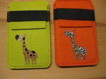 """Filz-Handytasche """"Giraffe"""""""