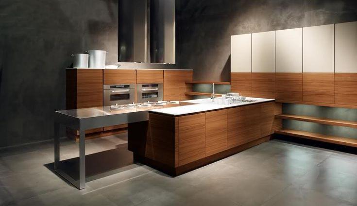 22 Minimalistic Wooden Kitchen Designs