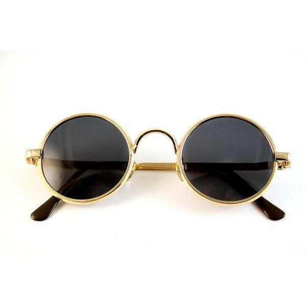 92178cdf6f0 vintage round gold metal John Lennon sunglasses high quality lens ( 65)  found on Polyvore