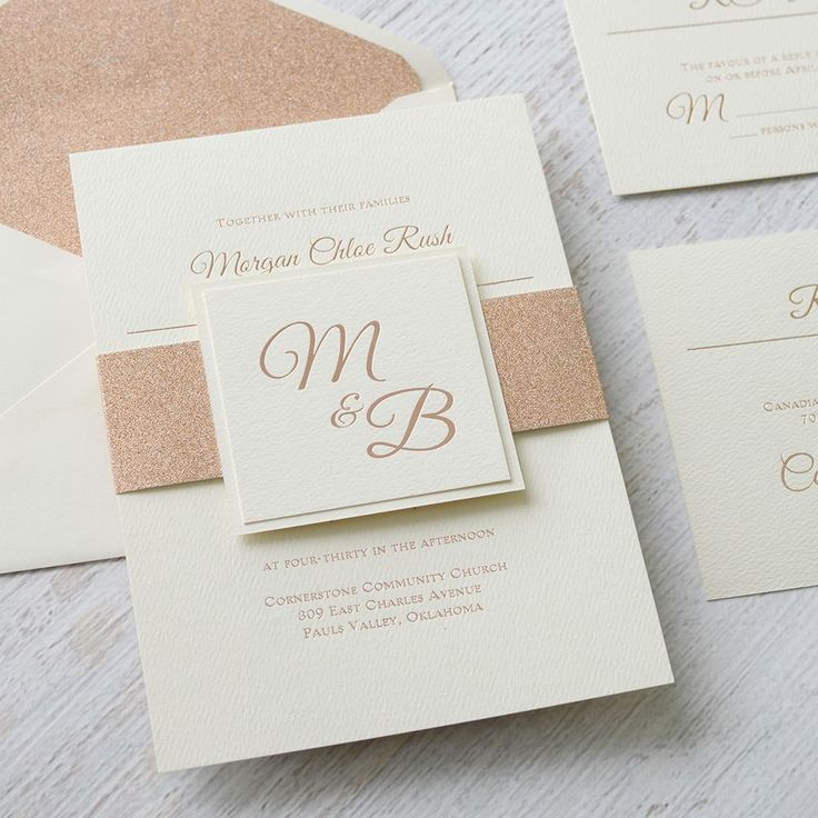 addressing wedding invitations married woman doctor%0A Layers of Luxury  Ecru  Rose Gold Foil Invitation
