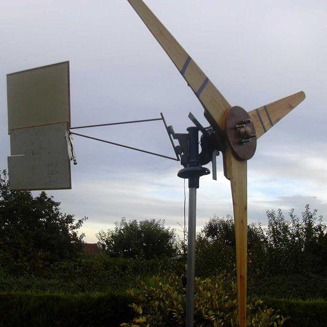 Homemade alternator wind turbine
