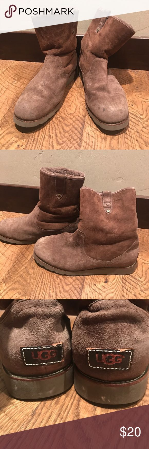 Uggs with Vibram sole Uggs with Vibram sole. I don't know the exact size, but they are 12.5 in long when measured from the bottom. Good used condition with lots of life left. Men's or women's UGG Shoes Winter & Rain Boots