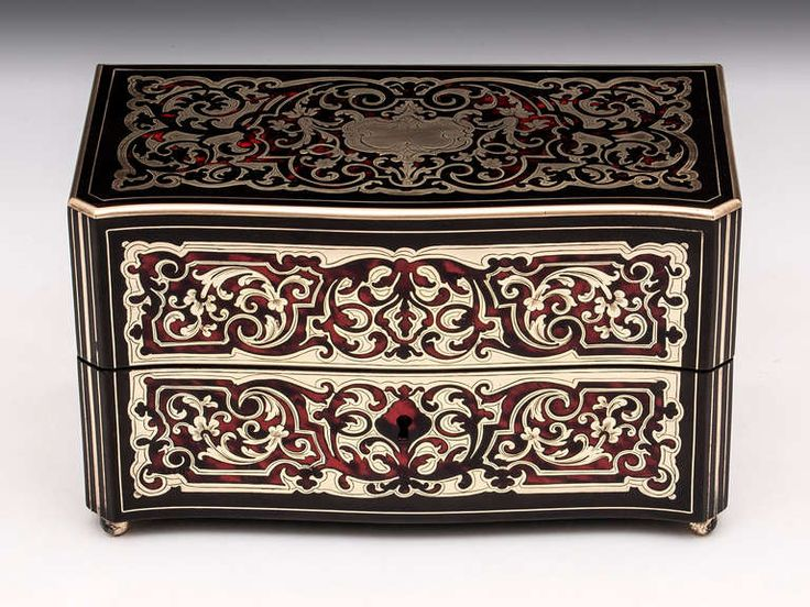 Boulle Tea Caddy | From a unique collection of antique and modern more antique and vintage finds at https://www.1stdibs.com/furniture/more-furniture-collectibles/more-antique-vintage-finds/