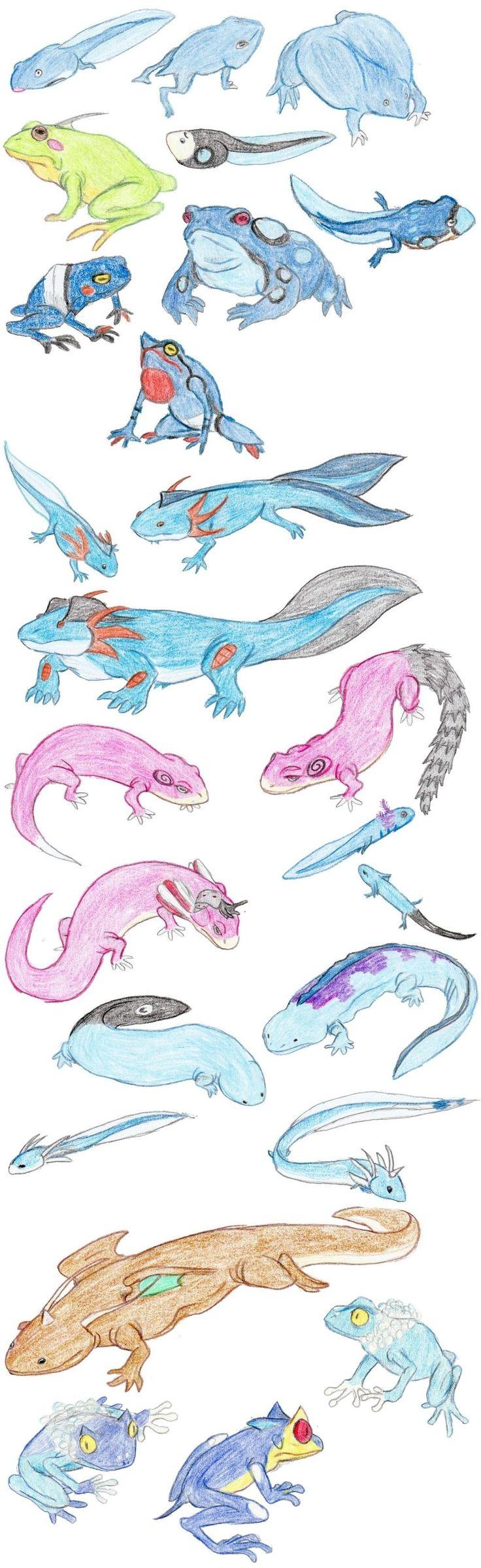 Amphibian Pokemon by DragonlordRynn on deviantART