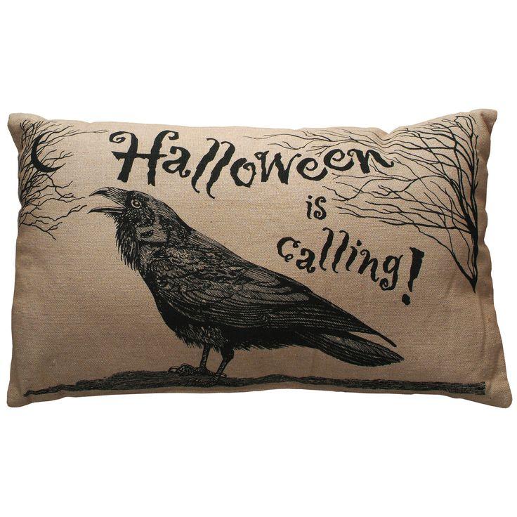 Halloween is Calling Throw Pillow